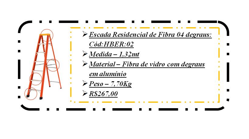hber02 escada residencial 4 degraus