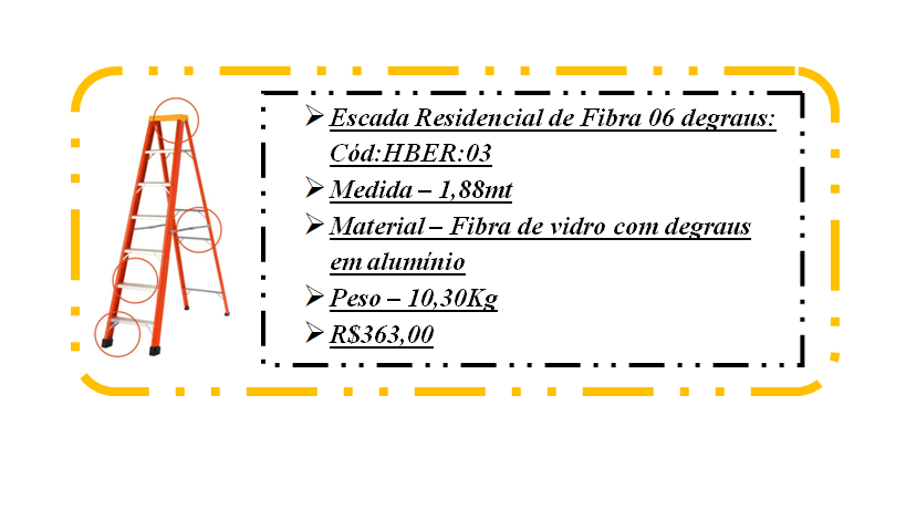 hber03 escada residencial 6 degraus